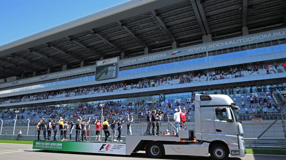 Drivers parade, Sochi Autodrom, 2017