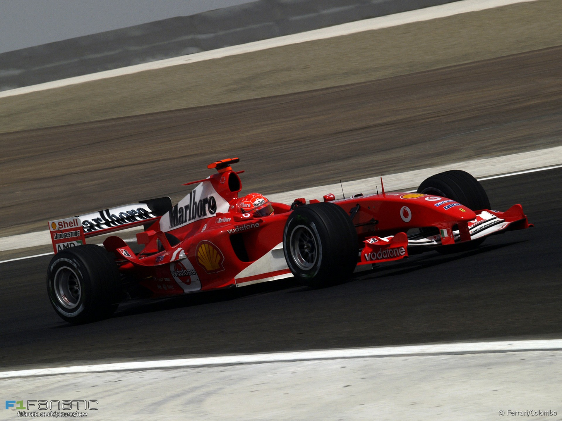 Michael Schumacher, Ferrari, Bahrain International Circuit, 2004