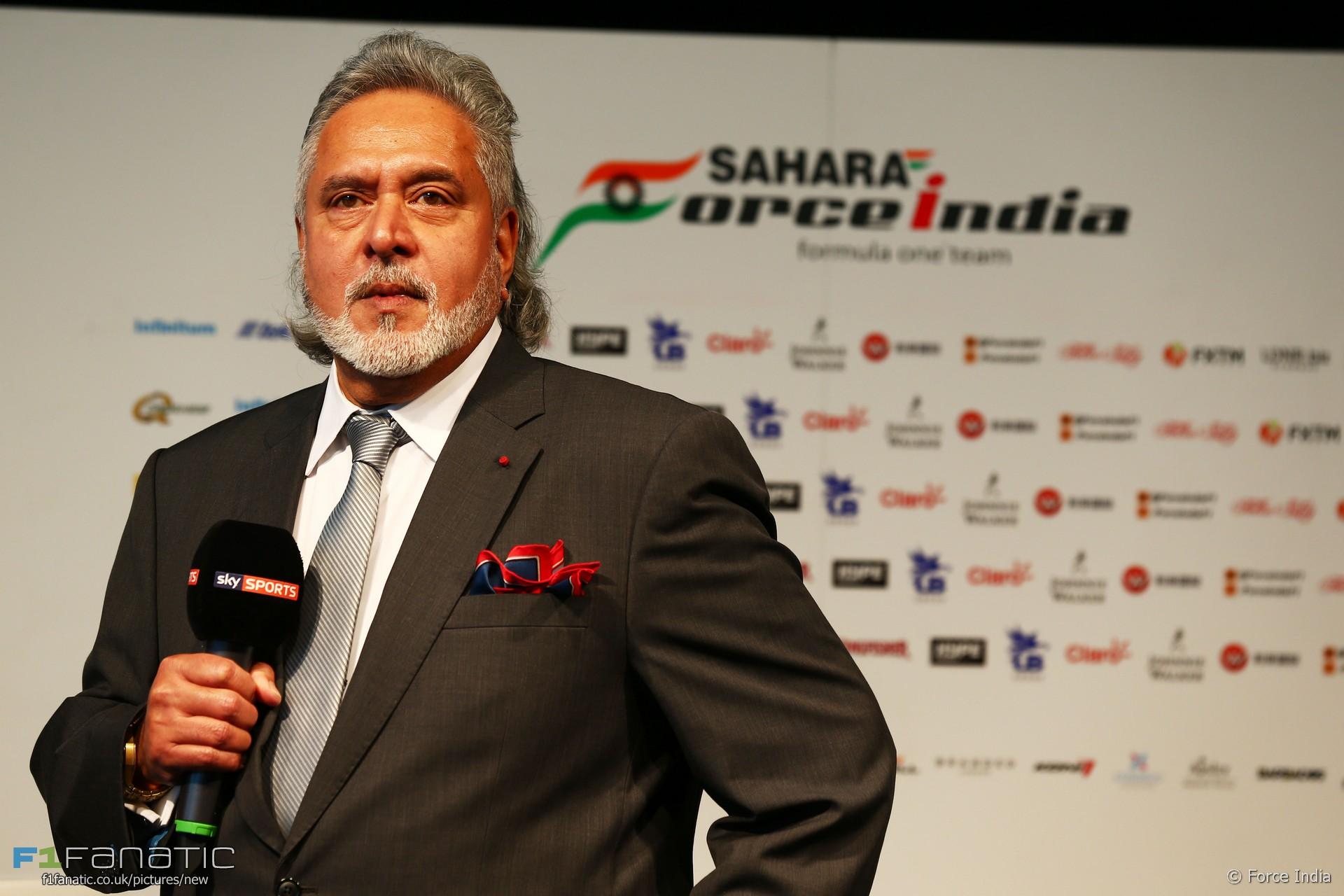 Vijay Mallya, Force India VJM10 launch, 2017