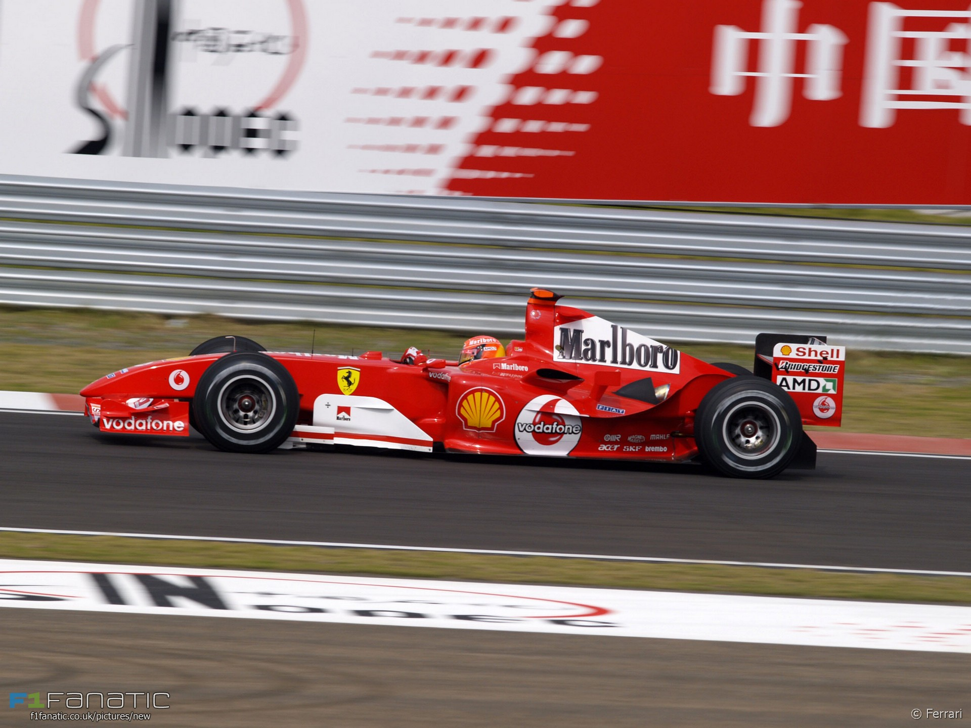 Michael Schumacher, Ferrari, Shanghai, 2004