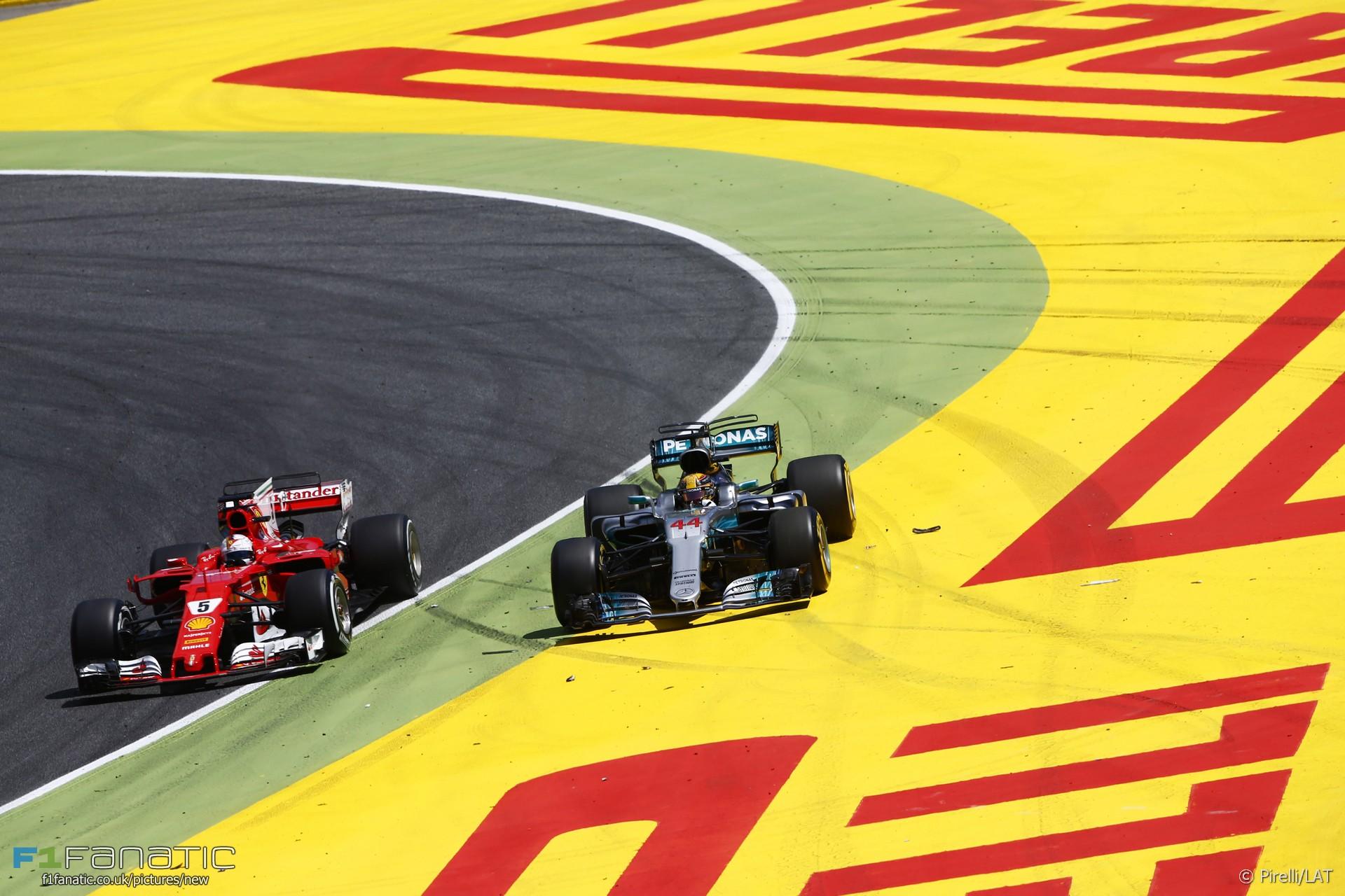 Sebastian Vettel, Lewis Hamilton, Circuit de Catalunya, 2017
