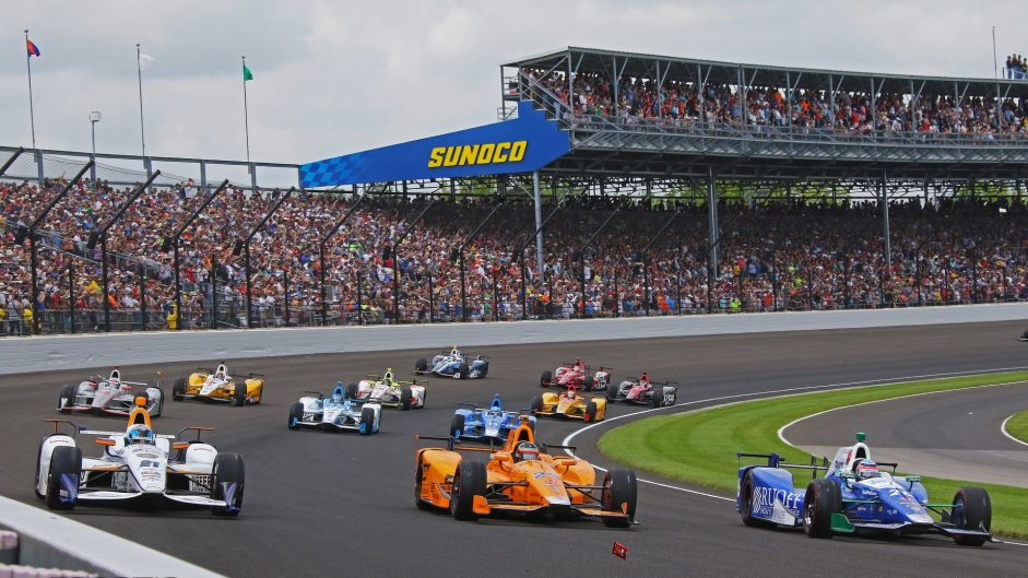 JR Hildebrand, Fernando Alonso, Takuma Sato, Indianapolis 500, IndyCar, 2017