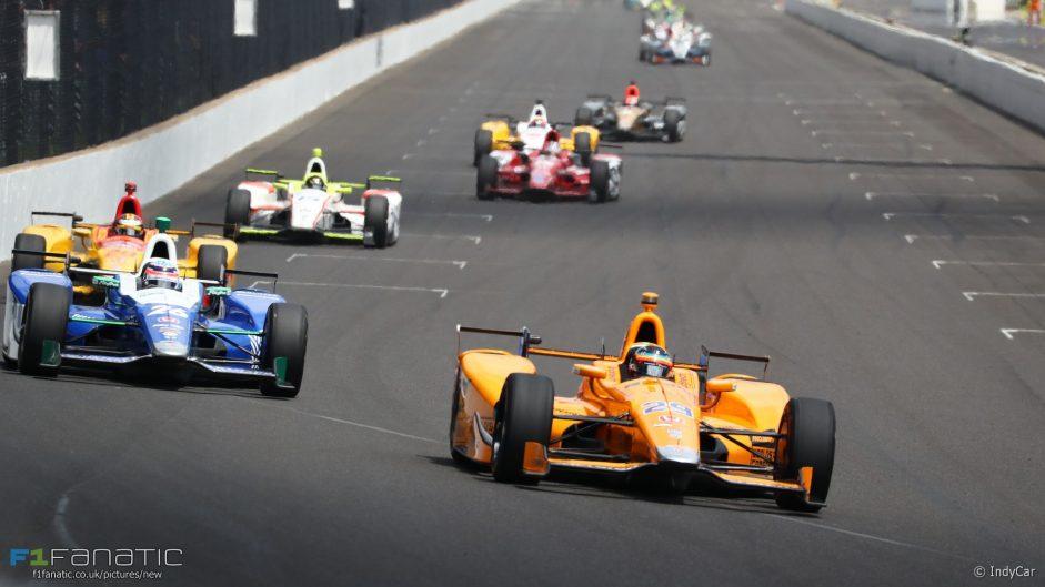 Fernando Alonso, Takuma Sato, Indianapolis 500, IndyCar, 2017