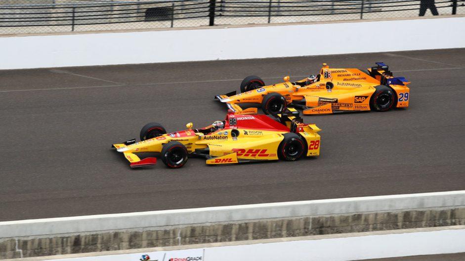 Ryan Hunter-Reay, Fernando Alonso, Indianapolis 500, IndyCar, 2017