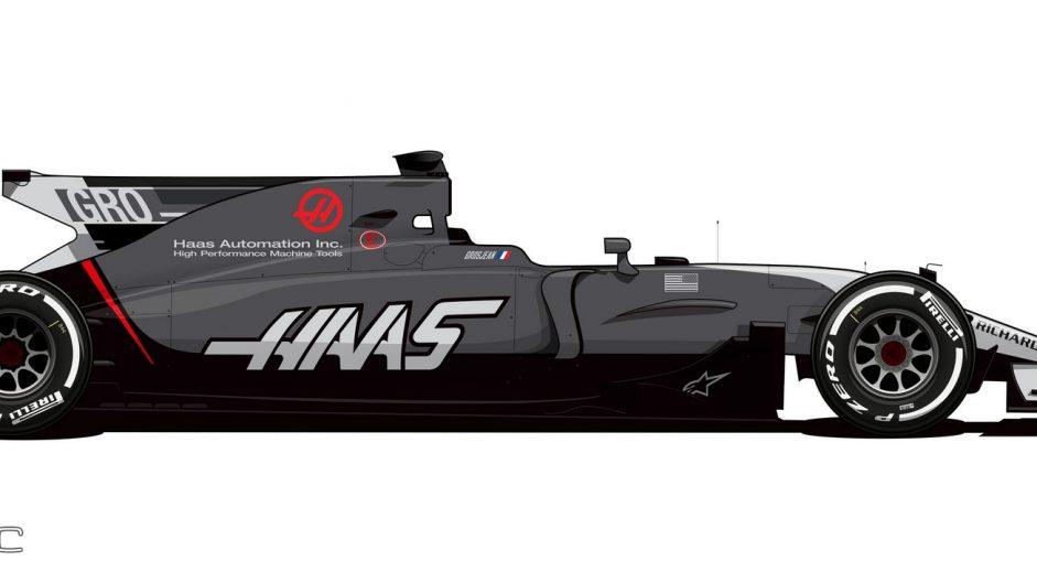 Haas livery, Monaco, 2017