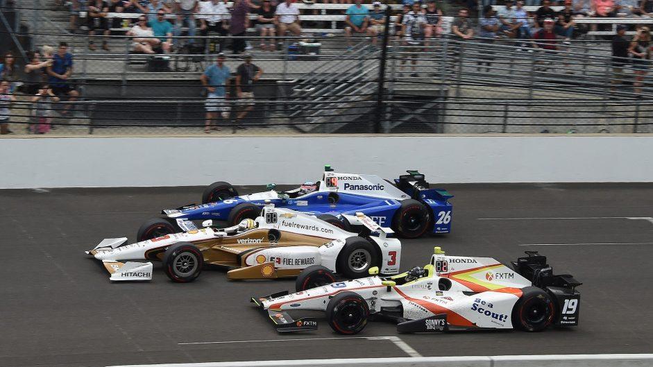 Takuma Sato, Helio Castroneves, Ed Jones, IndyCar, 2017