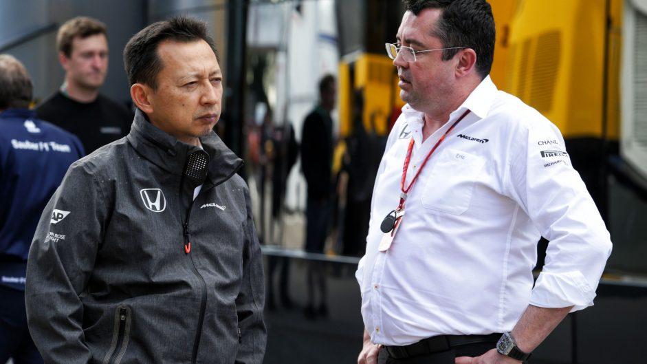 Yusuke Hasegawa, Eric Boullier, Circuit de Catalunya, 2017