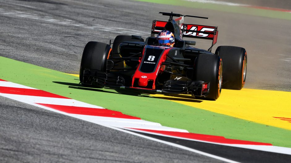 Romain Grosjean, Haas, Circuit de Catalunya, 2017