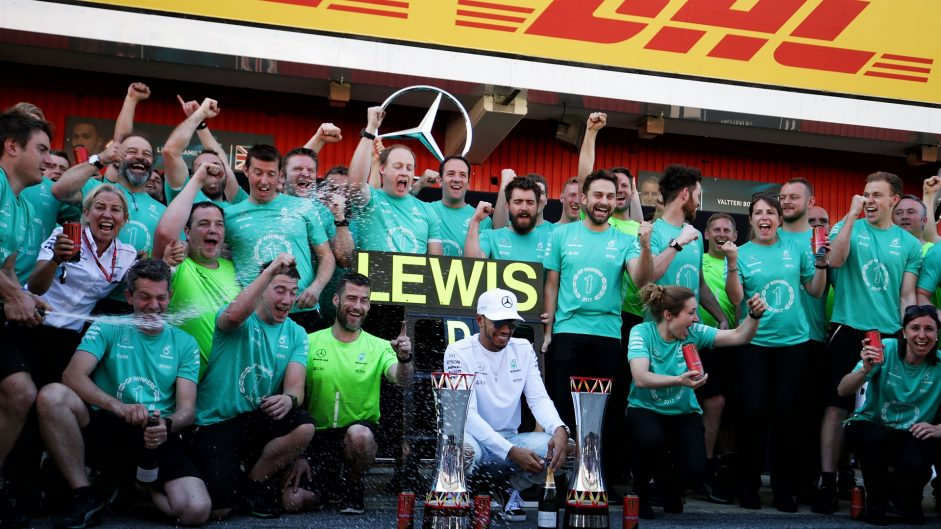 Mercedes tag team beat Vettel in hard-fought battle
