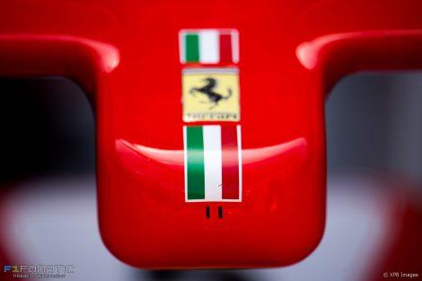 Ferrari SF70H nose, Monaco, 2017