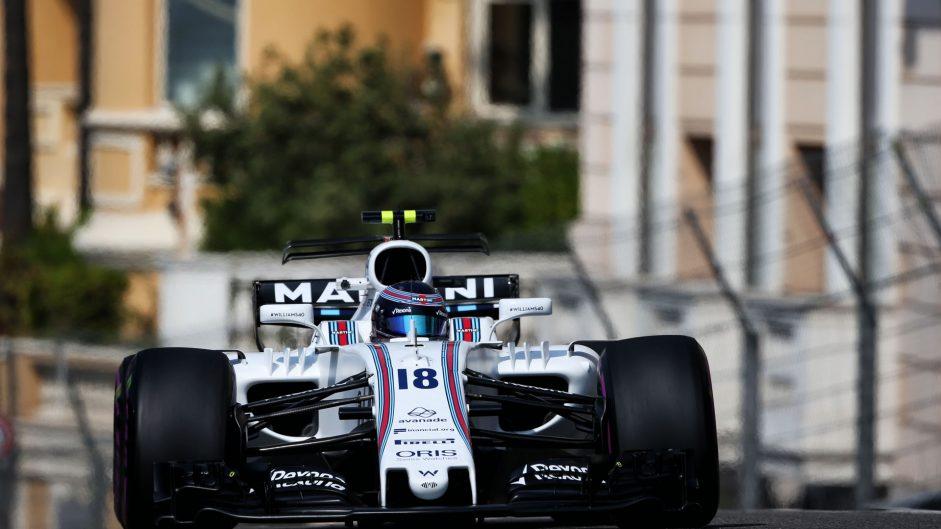 Lance Stroll, Williams, Monaco, 2017