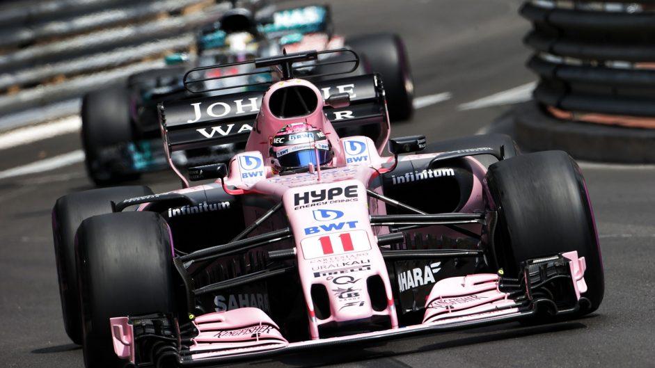Sergio Perez, Force India, Monaco, 2017