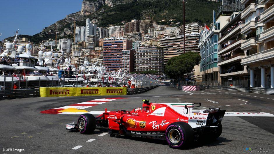 2017 Monaco Grand Prix grid