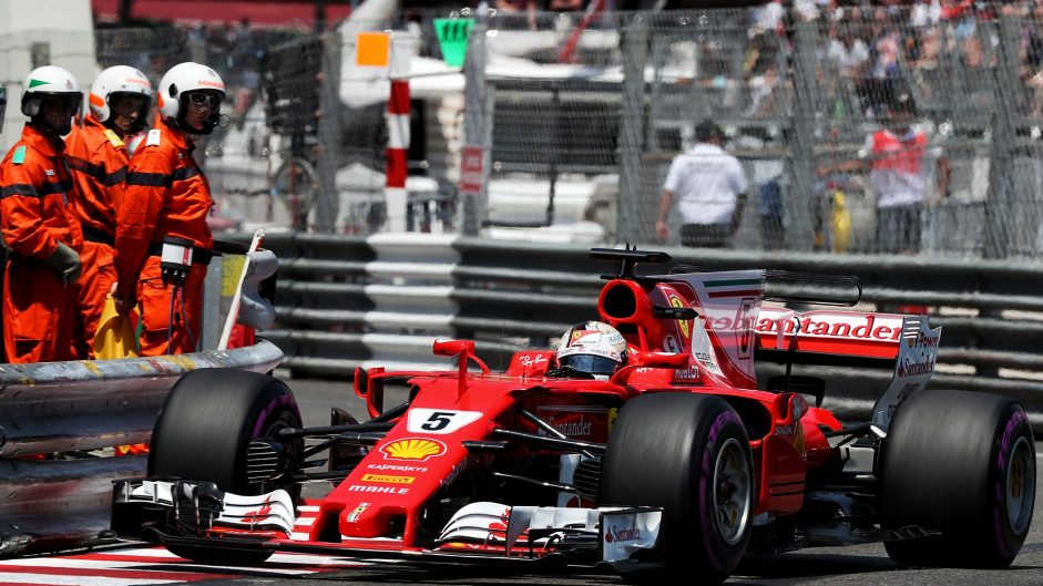 Vettel leads Ferrari one-two in Monaco