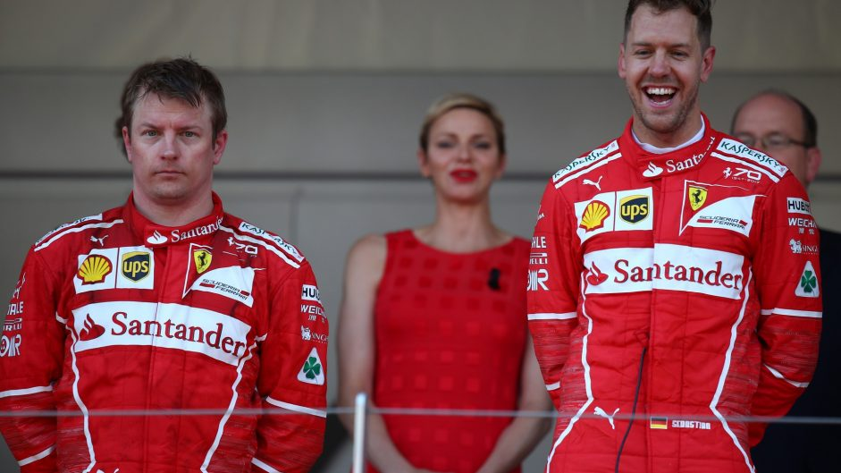 Mixed emotions for Vettel and Raikkonen after Ferrari one-two