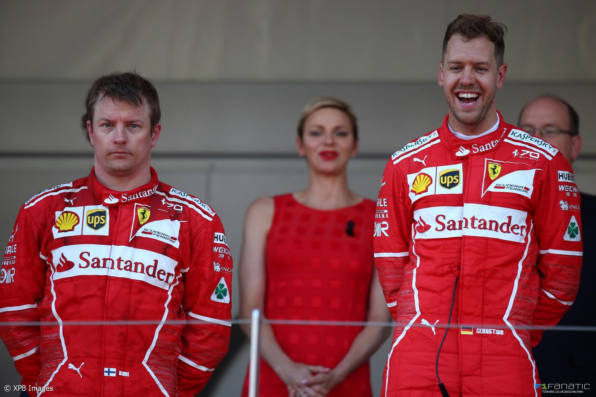 Kimi Raikkonen, Sebastian Vettel, Ferrari, Monaco, 2017