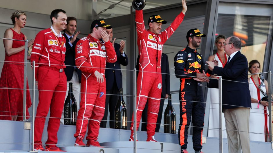 Vettel strikes body blow to Mercedes and Raikkonen in Monaco