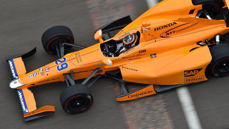 Fernando Alonso, McLaren Honda Andretti, IndyCar, Indianapolis, 2017