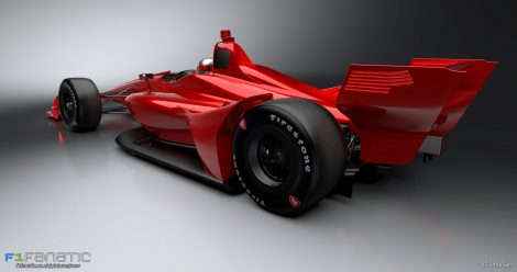 IndyCar 2018 road course aero kit rendering