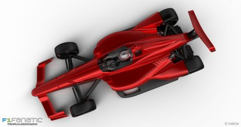 IndyCar 2018 superspeedway aero kit rendering