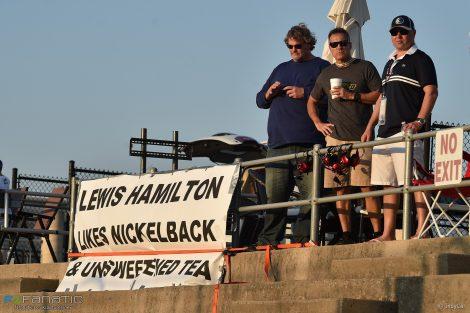 IndyCar fans banner, Texas Motor Speedway, 2017