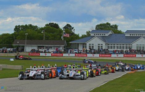 Start, Road America, IndyCar, 2017