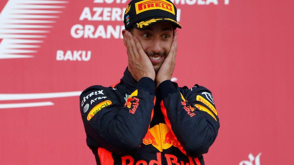 Daniel Ricciardo, Red Bull, Baku City Circuit, 2017