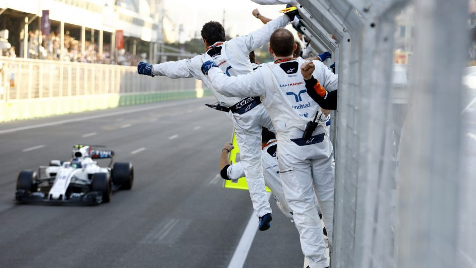 Stroll is 2017's seventh different Driver of the Weekend winner