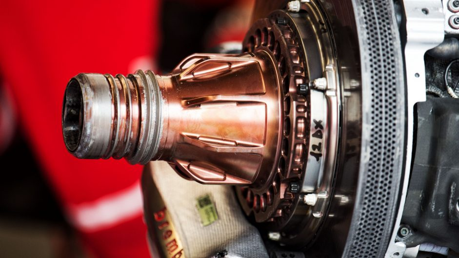 Ferrari SF70H brake, Circuit Gilles Villeneuve, 2017