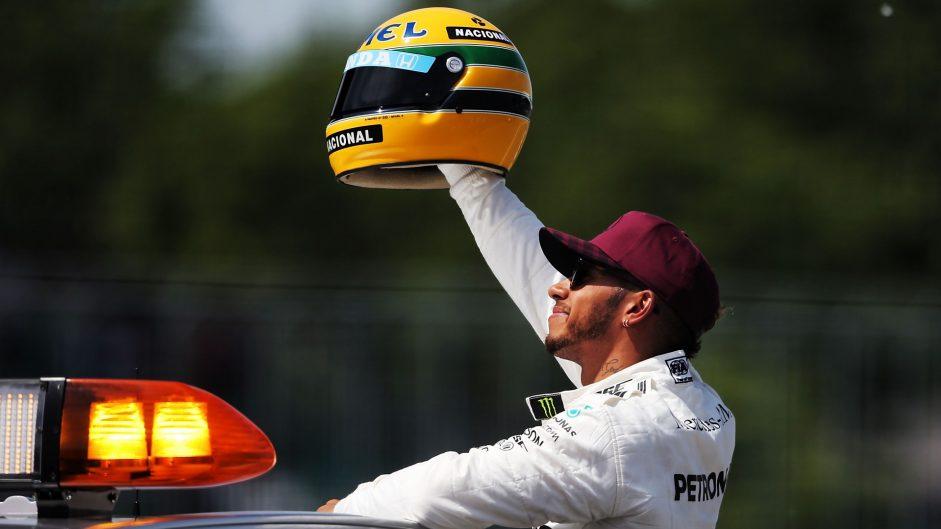 Senna helmet will get pride of place – Hamilton