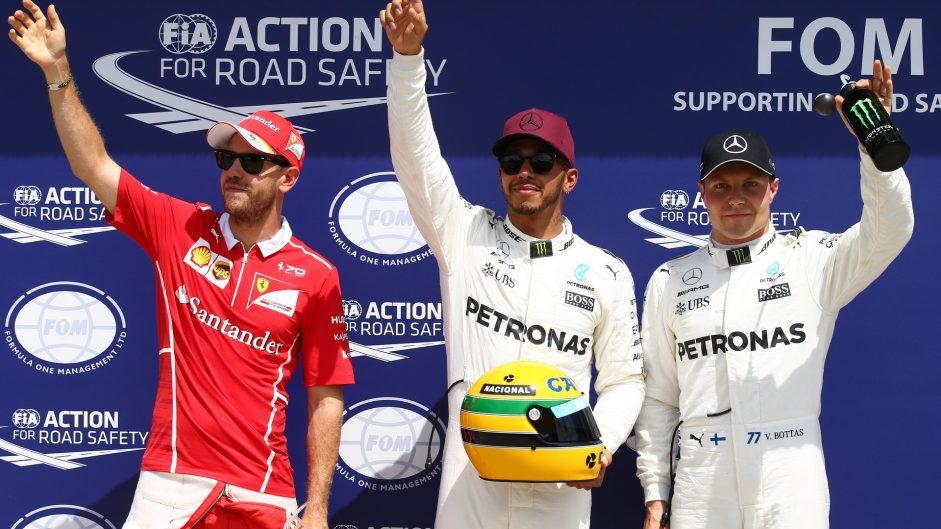 Sebastian Vettel, Lewis Hamilton, Valtteri Bottas, Circuit Gilles Villeneuve, 2017