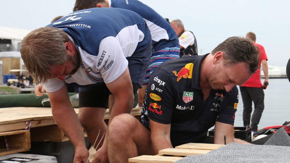 Christian Horner, Red Bull, F1 raft race, Circuit Gilles Villeneuve, Montreal, 2017