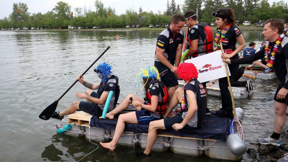 Toro Rosso, F1 raft race, Circuit Gilles Villeneuve, Montreal, 2017