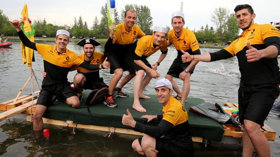 Renault, F1 raft race, Circuit Gilles Villeneuve, Montreal, 2017