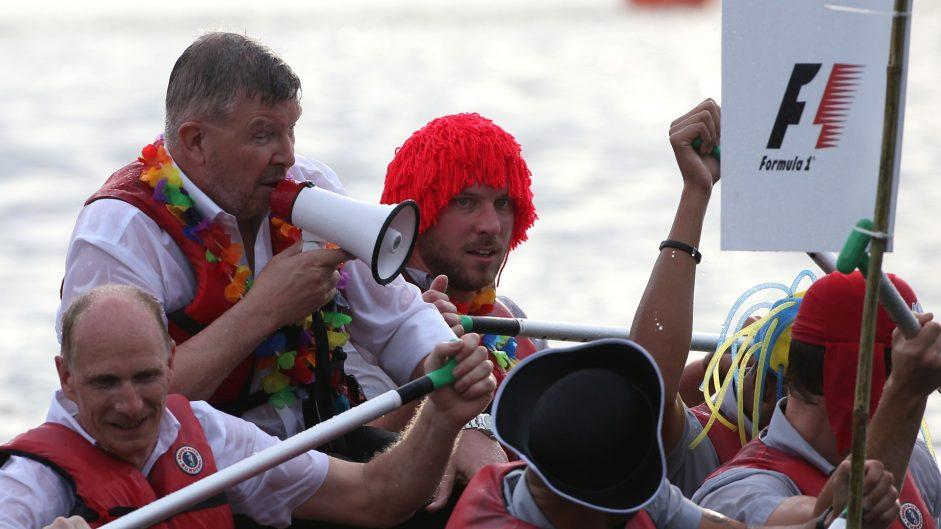 Ross Brawn, F1 raft race, Circuit Gilles Villeneuve, Montreal, 2017