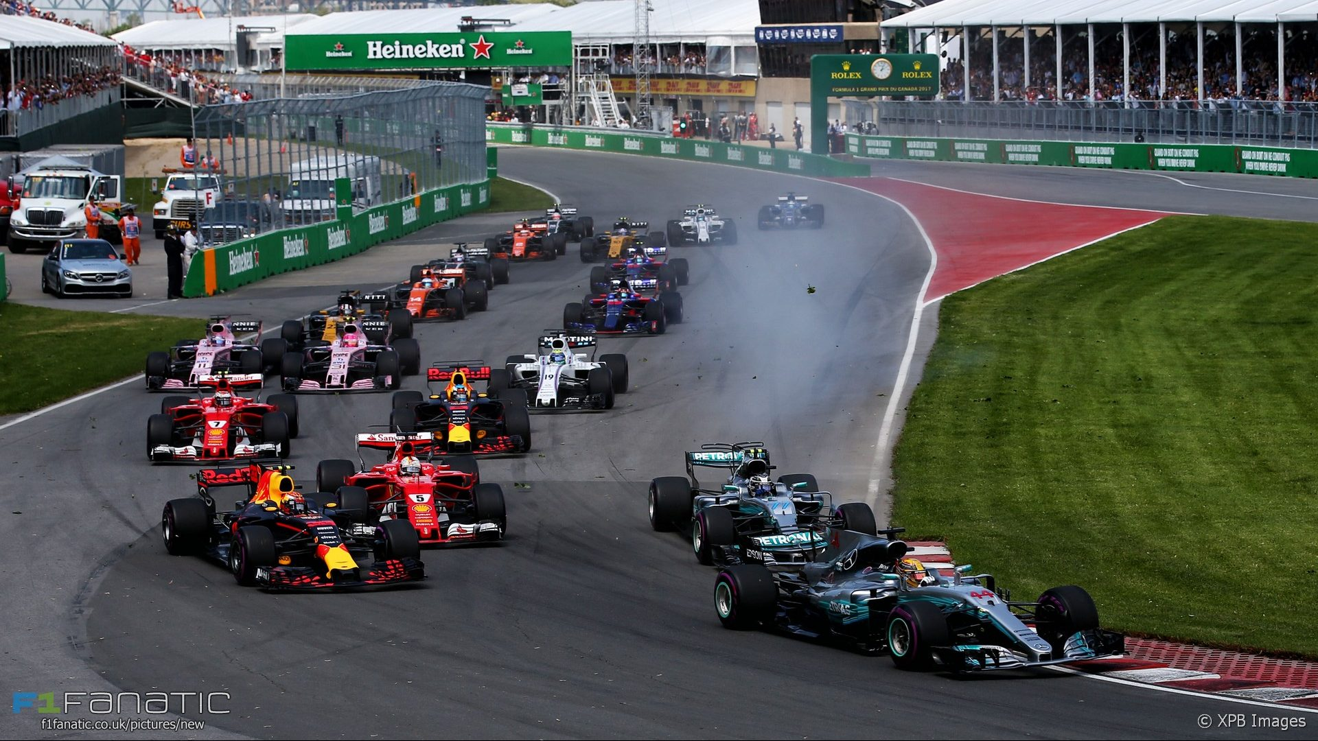 Start, Circuit Gilles Villeneuve, 2017