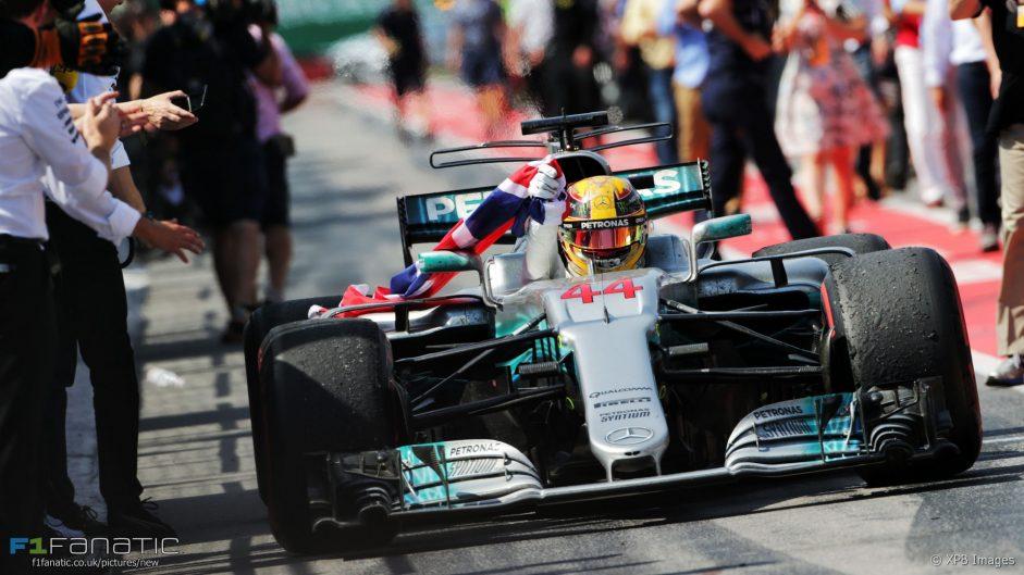 Hamilton takes fourth grand slam as Stroll grabs first points