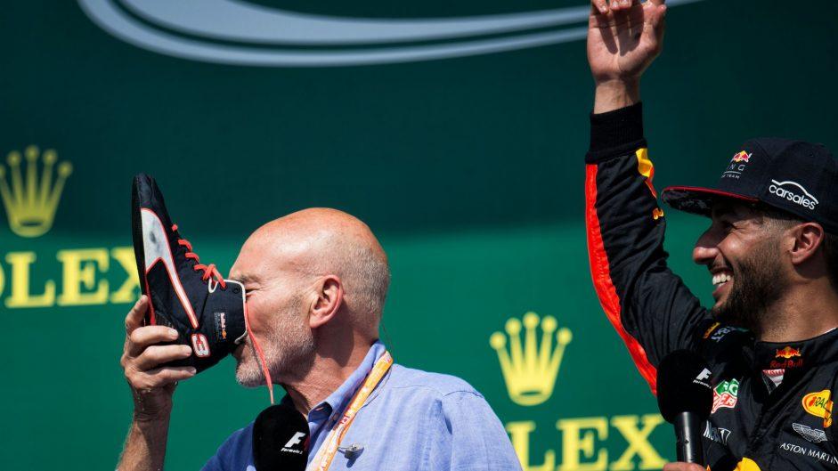 Sir Patrick Stewart, Daniel Ricciardo, Circuit Gilles Villeneuve, 2017