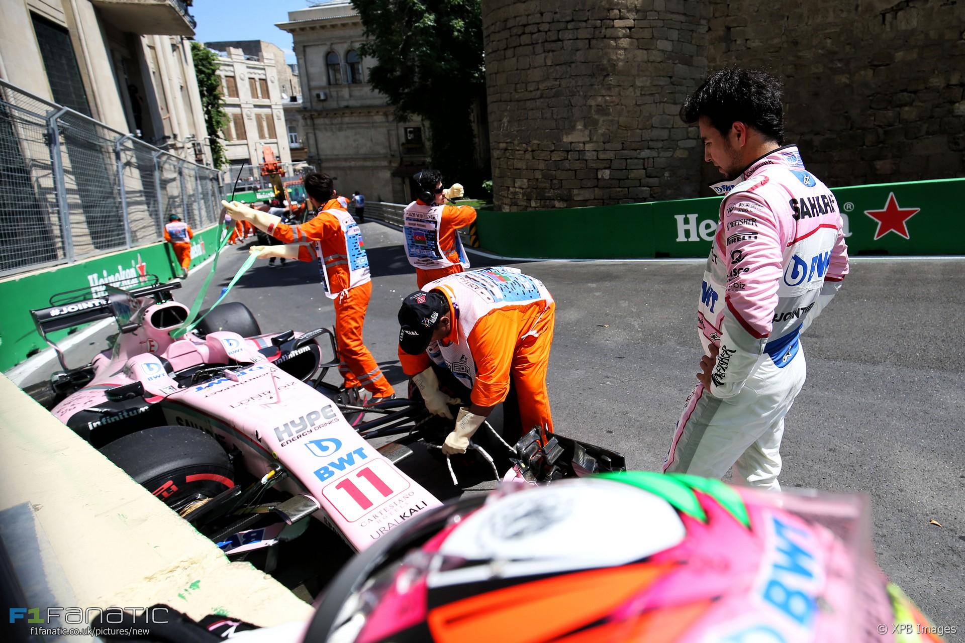 Sergio Perez, Force India, Baku City Circuit, 2017