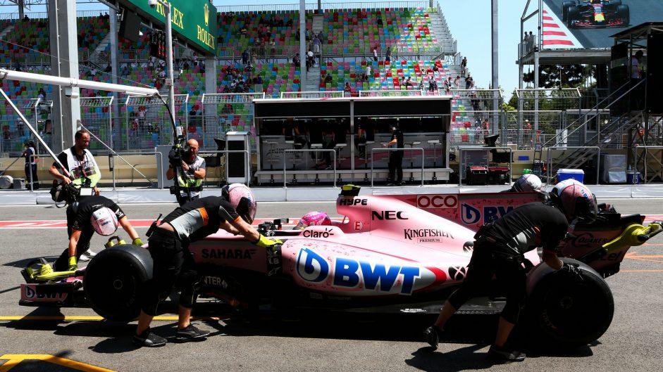 Esteban Ocon, Force India, Baku City Circuit, 2017