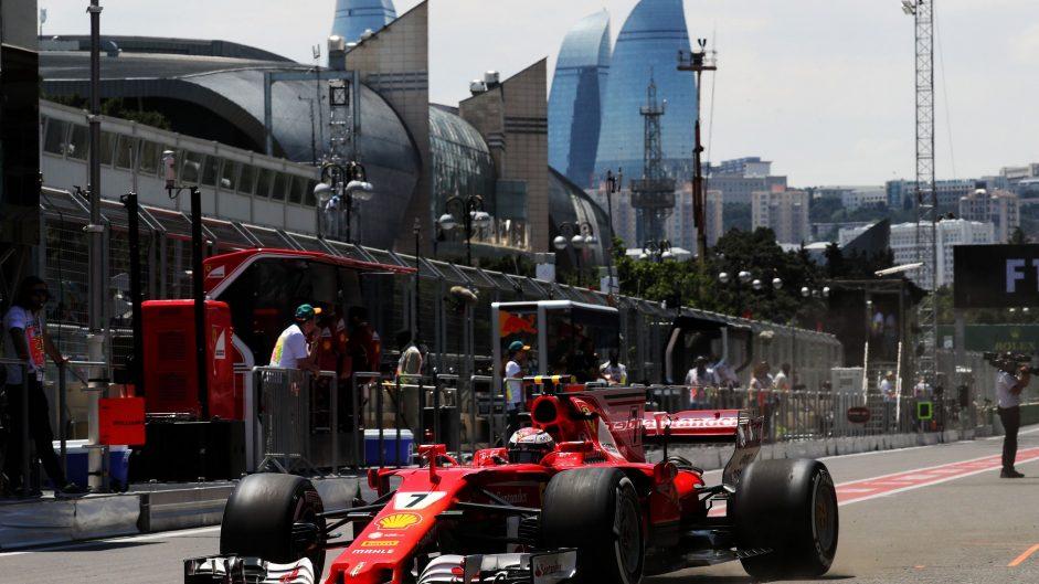 Kimi Raikkonen, Ferrari, Baku City Circuit, 2017