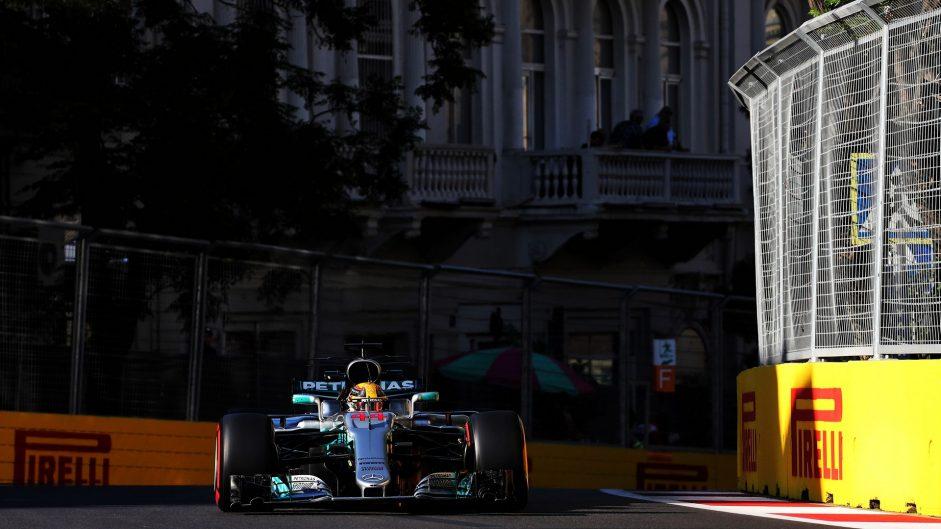 Lewis Hamilton, Mercedes, Baku City Circuit, 2017