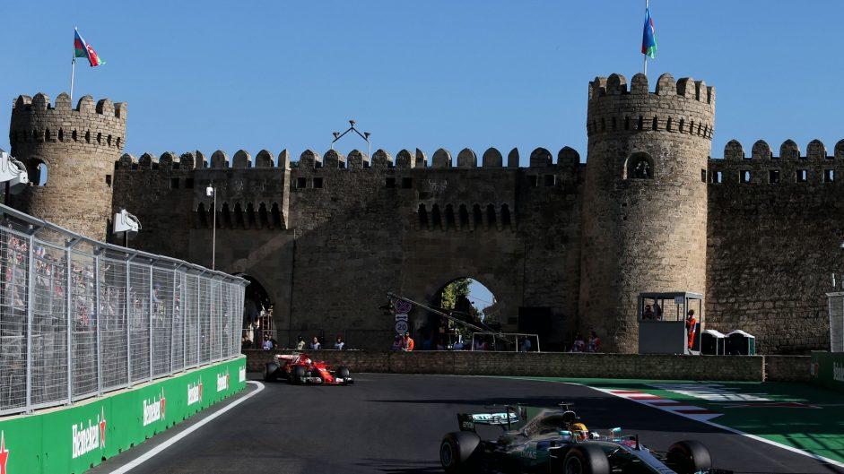 2017 Azerbaijan Grand Prix interactive lap charts