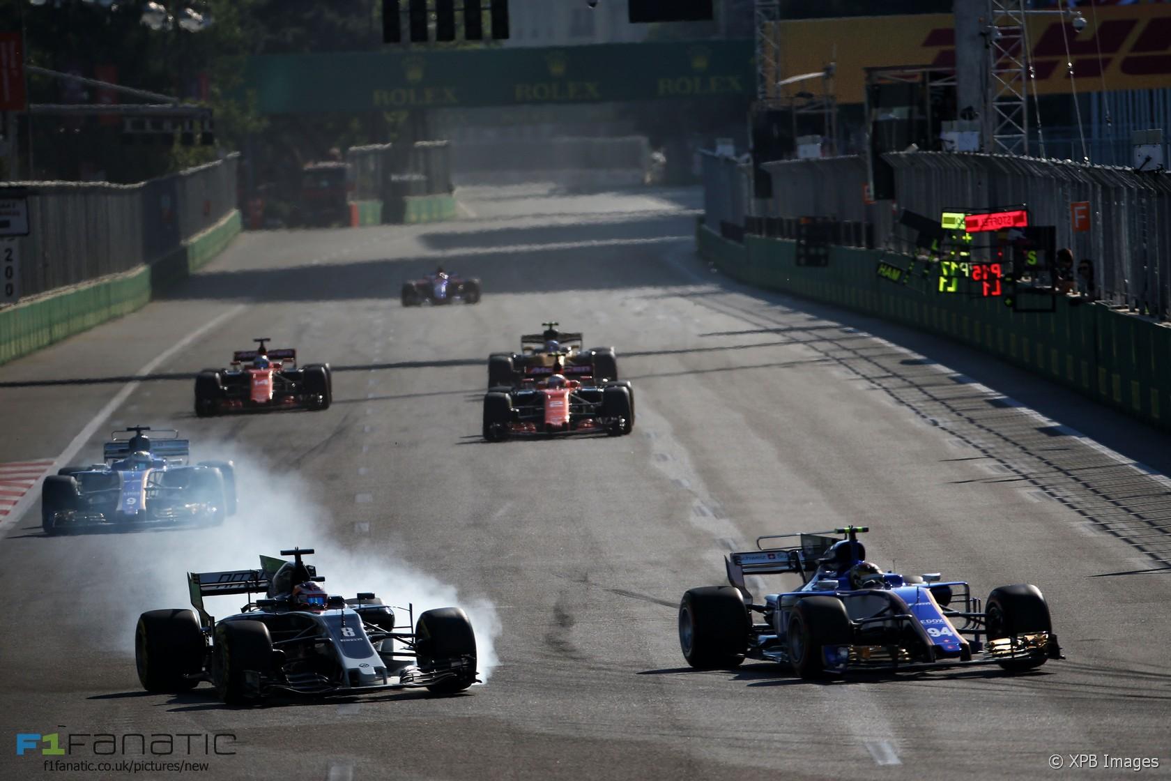 Romain Grosjean, Haas, Baku City Circuit, 2017