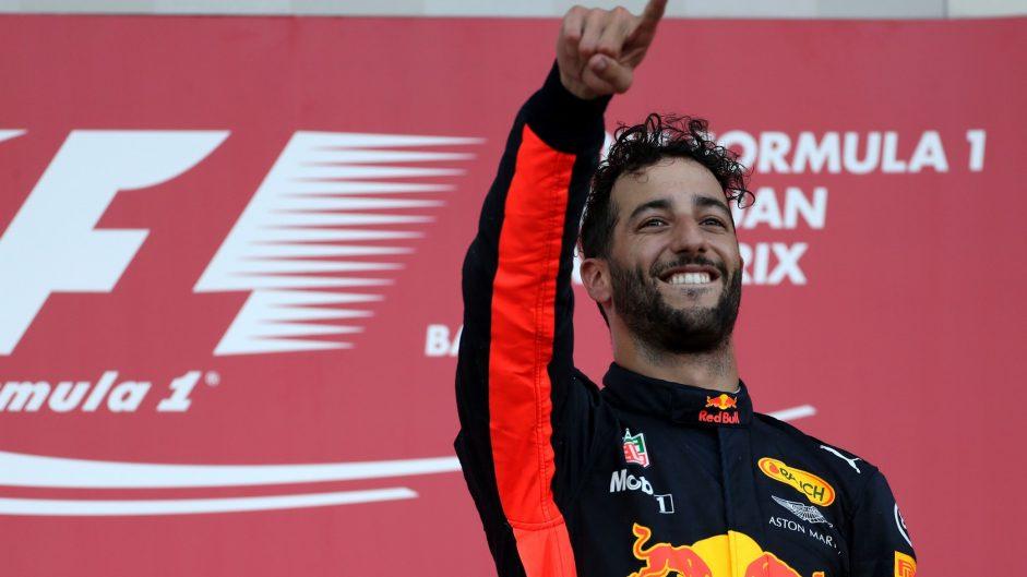Ricciardo beats Bottas, Stroll to win chaotic Azerbaijan GP as Vettel, Hamilton clash