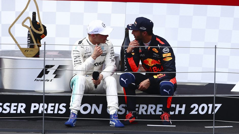 Valtteri Bottas, Daniel Ricciardo, Red Bull Ring, 2017