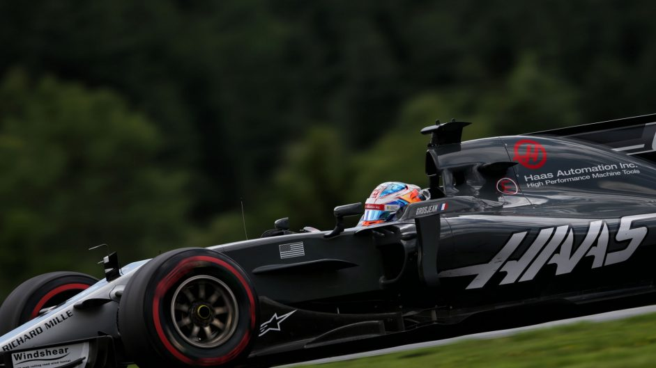 Romain Grosjean, Haas, Red Bull Ring, 2017