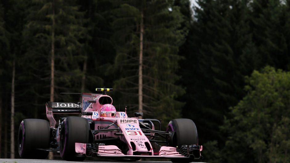 Esteban Ocon, Force India, Red Bull Ring, 2017