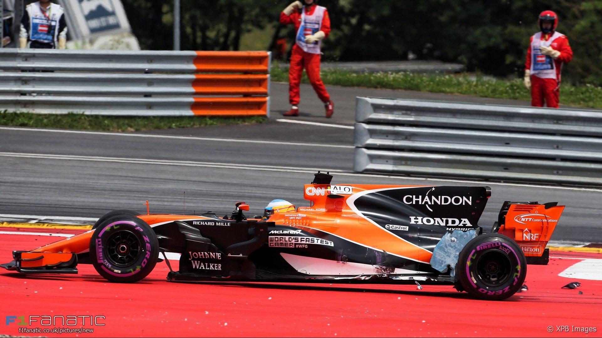 Fernando Alonso, McLaren, Red Bull Ring, 2017