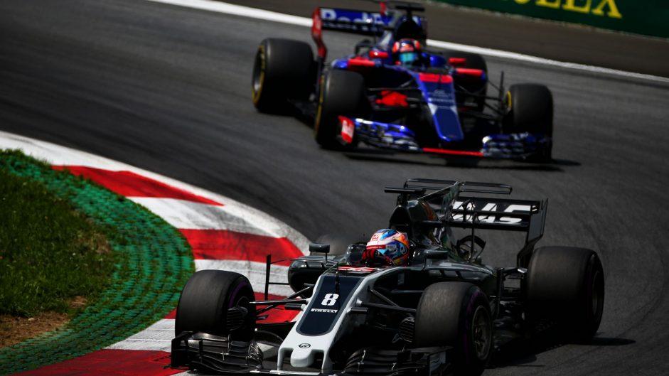 Romain Grosjean, Haas, Red Bull Ring, 2017